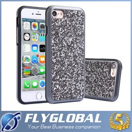 Wholesale Electroplated Battery - For iphone 6 6 plus 7 7 plus Premium Bling 2 in 1 Luxury Diamond Rhinestone Glitter Back Cover Electroplate Phone Cases