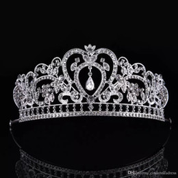 Wholesale Elegant Wedding Bridal Jewelry Headpiece - Luxury Elegant Crystal Bridal Crown Headpieces Woman Tiaras Hair Jewelry Ornaments Hairwear Bride Wedding Hair Accessories CPA791