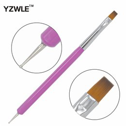 Wholesale Nail Polish Promotions - Wholesale- New Arrival Promotion 2-Ways Nail Art Pen Painting Dotting Acrylic UV Gel Polish Brush Liners Tool