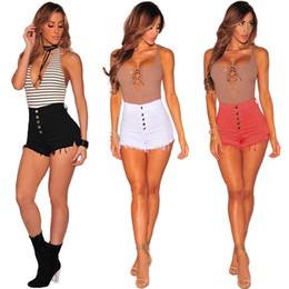 2019 vêtements pour femmes de taille moyenne Ladies Denim Shorts Femmes Jeans Shorts Pantalons Eté Plus Size Clothing Blanc Noir Rose Taille Basse Pantalon New Fashion S M L XL 2XL