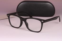 Wholesale Big Black Fashion Eyeglass Frames - Eyeglasses Optical Glasses Frame Spectacles 5248 Brand Myopia Frame Fashion Retro Italy Brand Optical Big Frame Black Glasses with Case