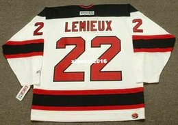 Wholesale Lemieux Ccm Jersey - Cheap custom retro CLAUDE LEMIEUX New Jersey Devils 1995 CCM Jerseys Throwback Home Jerseys Throwback Mens stitched Hockey Jersey