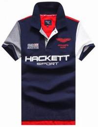 1af299ff756 2017 Summer Hackett Sport HKT Racing Mens Casual Polos Cotton Short -Sleeve  Slim Polo Shirts Turn-Down Collar England Style Men London Polos