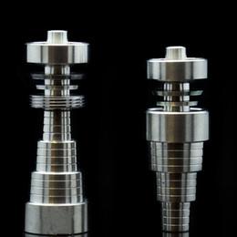 2019 domo para titânio prego Atacado- prego de titânio GR2 Domeless 10 mm / 14 mm / 18 mm Titanium Nails masculino feminino 6 em 1 quartzo prego cúpula domo para titânio prego barato