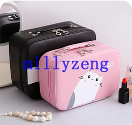Wholesale Light Pink Storage Boxes - Cube Cosmetic Bag Large Portable Small Portable Portable Cosmetics Skin Care Box Storage Box Two Size