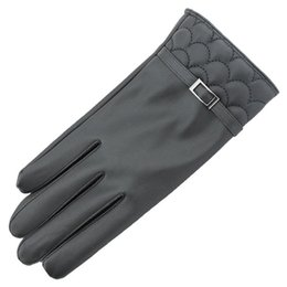 Wholesale Soft Leather Driving Gloves - Wholesale- New Arrival Autumn Winter Gloves Women Toque Screen Winter Soft Leather Mitten Gloves Warm Driving Wonderful Gift Guantes