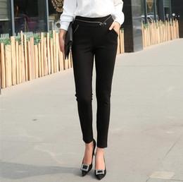 Wholesale Simple Lady Pants - Good A++ Summer hot casual fashion simple lady suit pants high waist hip hip pants PW015 Women's Pants & Capris