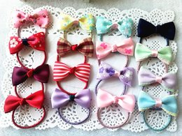 Wholesale Hair Pins Kids - Hot Sale Multi Colors Hair Bows Hair Pin for Kids Girls Children Accessories Baby Hairbows Girl Hair Bows with Clips Flower clip