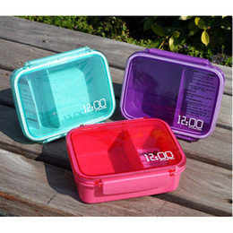 Wholesale Spoon Fork Knife Boxes - YGS-Y012 Bento box Cartoon cute Single sealed plastic lunch box square can microwave sandwiches Food Container Meal Box