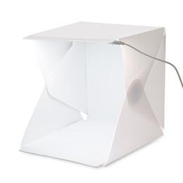 Фото онлайн-Портативная мини-фотостудия Box Фотография Фон встроенный светодиодный свет Photo Box сложить Photo Studio Soft Box