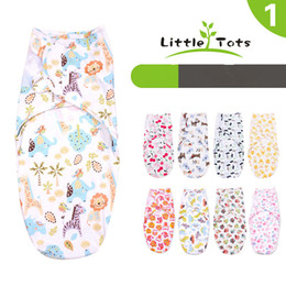 Wholesale Envelope Printed - UPS FEDEX free Newborn Cotton Swaddleme Wrap Baby Infants Envelop Sleep Bag Sleepsack Cartoon animal print Swaddle Blanket 20styles