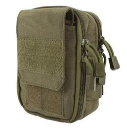 Wholesale Wholesale Briefcase Bags - Tactical Military Hunting Small Utility Pouch Pack Army Molle Cover Scheme Field Sundries Outdoor Sports Bags Mess Briefcase