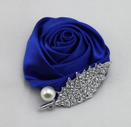 Venta caliente Diamante Boda Ramillete Perlas Cristales Unisex Hecho a mano Boutonniere Decoraciones de la boda desde fabricantes
