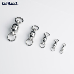 Wholesale heavy swivels - Heavy duty 44-440LB ball bearing swivel with solid ring fishing swivel rolling swivel connector 1#-9# stainless steel sea fishing accessory