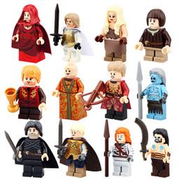Wholesale Snow Blocks - 12pcs lot PG8029 Game of Thrones Jon Snow Khai Drago White Walker Ice and Fire Series Building Blocks Toys