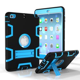 "Wholesale Hybrid Case For Ipad - High Impact Resistant Cover For Apple iPad mini1234 Air2 234 Pro 9.7"" Case Hybrid Three Layer Heavy Duty Armor Defender Full Protect"
