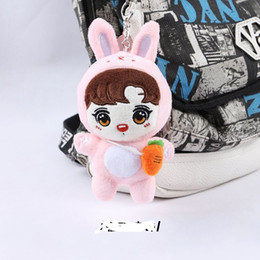 Wholesale Big Pendent - 3pcs lot bts jung kook cartoon plush backpack chain pendent