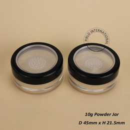 Wholesale Plastic Sifter Jars - 100% excellent Make Up Tools 10g Plastic Cosmetic Jar,Empty Loose Powder jars With Sifter,50pcs lot Free Shipping