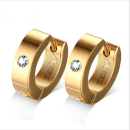 Wholesale Jewelry Ear Cuff Hoop Earring - Fashion Gold Plated Hoop Earrings for Women Stainless Steel Ear Cuff brincos Jewelry Wholesale EH-117