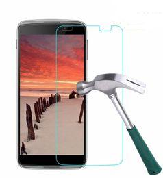 Wholesale Alcatel Idol Mini Screen Protector - Tempered Glass Screen Protector Round Edge Protection For Alcatel One Touch Pop S3 c7 pop3 5.0 5.5 ALCT ONE XL GO PLAY IDOL 2 mini 3 4.5 5.5