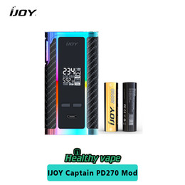 Wholesale Box Brother - Original iJoy WonderVapeCO 270 Mech Starter Kit 20700 Battery Brother Mod iJOY Captain PD270 TC Box Mod 234W Rainbow Color