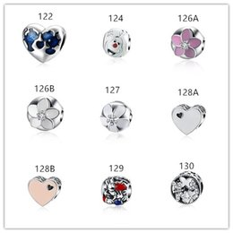 Wholesale Deer Oval - Wholesale 925 Sterling silver beads for diy bracelets Deer Apple Cake etc shaped Enamel beads 18 style diy jewelry mix order