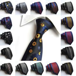 Wholesale Mens Ties 6cm - Fashion 6cm Slim Men Silk Ties Magnificent Noble Skinny Mens Neck Ties Handmade Wedding Necktie High Quality Mens Business Ties Stripes