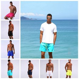 Wholesale Mens White Beach Pants - Mens Swim Shorts Quick Dry Summer Board Shorts Surf Swimwear Summer Beach Short Pants Running Gym Shorts 7 Colors OOA2313