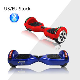 Wholesale US EU Stock Bluetooth Hoverboard WIth LED Light Inch Balance Electric Scooter Smart Balance Wheels Fast Ship