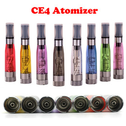 ego t w c Promo Codes - CE4 1.6ml Atomizer ego CE4 Colorful Clearomizer For EGO-T Atomizer E- Cigarette Adapter to ego-t ego-w ego-c twist All 510 Clearomizer DHL
