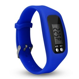 freie schrittzähler Rabatt Digital-LED-Schrittzähler-intelligente multi Uhr-Silikon-Laufschritt-Zähler-Uhr-elektronisches Armband-bunte Schrittzähler geben Verschiffen frei