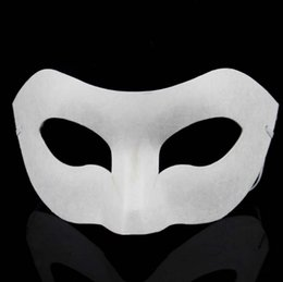 Wholesale Wholesale Props For Parties - DIY hand painted white mask crown butterfly blank paper mask masquerade cosplay mask kid draw party masks props