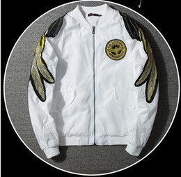 Wholesale Trench Coat Hip Hop - BOY LONDON kanye west yeezus MA-1 pilot hip hop jacket High street fashion men's trench coat motorcycle jacket