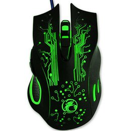 Wholesale Pc Computers Laptops - Hot Sale Estone X9 5000DPI LED Optical USB Wired Gaming Mouse Gamer Computer PC Laptop Professional Game Mice batter than X5 X7