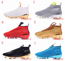 Wholesale Indoor Training - Hot Sale Men's Ace16+ Purecontrol FGAG Shoes, Futbol Football boots Shoes Sneakers Black Soccer Cleats Athletic Training Shoes SIZE 39-46