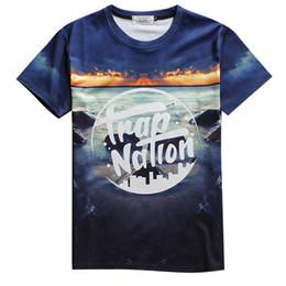 Wholesale Over Shirt Women S - Wholesale- Alisister 3d all over print trap nation graphic tee-shirt men women fashion summer tops tees crewneck short sleeve basic T-shirt