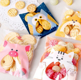 Wholesale Self Adhesive Bread Bags - Wholesale-lovely animals Self Adhesive Seal bakery bread plastic bag ,gift bags, plastic bags