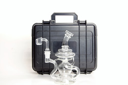 Wholesale Bong Pipes - 8 Inch Klein Recycler Glass Water Pipes Recyclers Glass bongs with Seed Of Life Perc 14.5mm joint