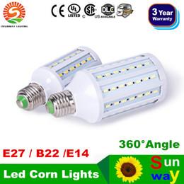 Wholesale E14 Smd Dimmable - High Power 20W 25W 30W Led Corn Lights SMD 5730 E27 E14 B15 B22 Dimmable Led Bulbs Pendant Lighting 360 Angle AC 110-240V