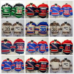 Wholesale Blank Blue Hoodie - New York Rangers hoodies 30 LUNDQVIST 36 Mats Zuccarello 61 Rick Nash99 Wayne Gretzky Ice Hockey Hoody Sweatshirts beige blue green blank
