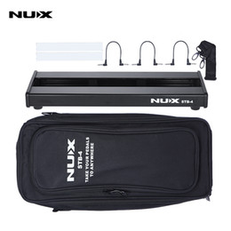 Wholesale Carring Case Bag - NUX STB-4 Aluminum Alloy Guitar Effect Pedal Board with Portable Carring Bag Case Box   2 Fastener Tape   3 Cables
