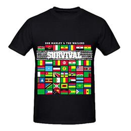 Новый 2017 Жаркое Лето Повседневная Футболка Печать Bob Marley Выживание RocknRoll Мужская O Шеи Цифровой Печати Рубашки от