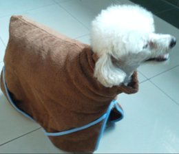 Wholesale Bath Supplies Towels - Free shipping dog pet bathrobe bath towel dog bath towel pet supplies super absorbent