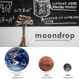 Wholesale Funny Displays - Moondrop Fidget Decompression Desktop Gag Toy Hand Spinner Displaying Gravity Moon Earth Mars Anti-stress ADHD Focus Improve Funny Toys