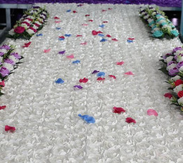 Wholesale Floral Carpet Roses - (11.8meter x width 130cm) Rose Red Long Cheap Floral Wedding props Aisle Carpet Runner For Church wedding stage T station carpet