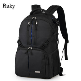 Wholesale Backpack Camera Bags For Men - Wholesale- Brand Waterproof Backpack Camera Bag Digital DSLR 14 inch Laptop Bag For Casual Men Women School Bags Backpack Nikon Canon Sony