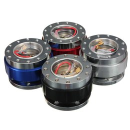rueda audi q7 Rebajas Billete universal de aluminio Coche Auto Volante Adaptador de cubo de liberación rápida Snap Off Boss Kit AUP_526