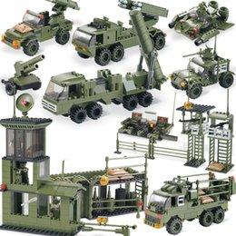 Wholesale Enlighten Military - 705pcs ENLIGHTEN Combat Zones Building Blocks Brick Toys Military Base Compatible Building Blocks Bricks Toys for Children Lepin