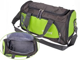 Wholesale Plain Shoe Bags - 2017 Large Capacity Popular Waterproof Outdoor Sports Bag Duffle Gym Bag Sports Bag Training Travel Bag+Independent Shoe Bit Free Shipping