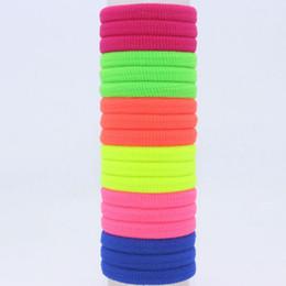 Wholesale Kids Scrunchies - 100pcs lot 22mm seamless ultra elastic tousheng headband hair rope rubber band black scrunchy hair accessories for girls kids